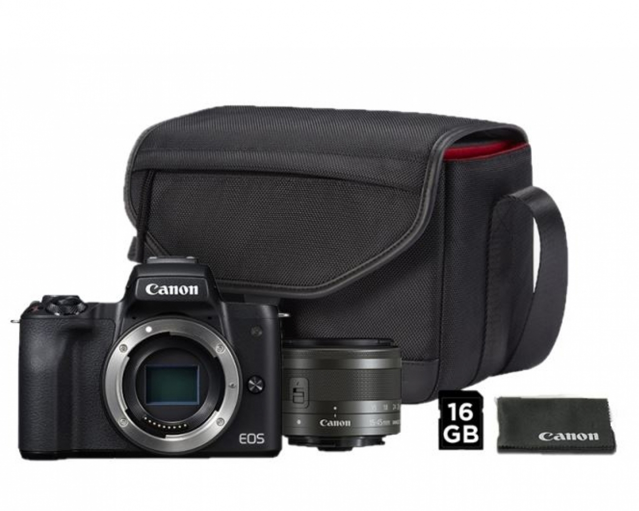 diventa nuovo codice promozionale a basso costo Canon Canon Eos M50 Black + EF-M 15-45 mm + borsa SB130 + 16 gb - Canon Pass