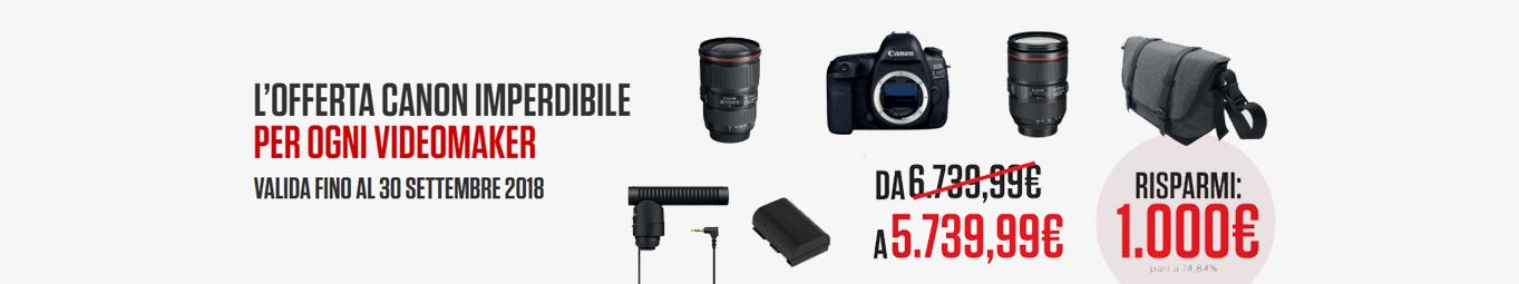 <h3>Canon</h3><div>Offerta Videomaker</div>