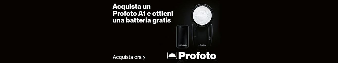 ProfotoOttieni 1 batteria gratis su A1 - fino al 15 aprile