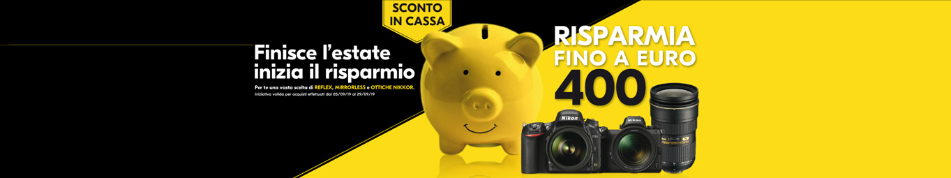 NikonSconto in Cassa